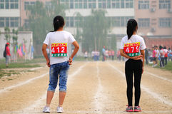 China: Student Track and Field Games stock photo