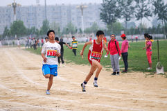 China: Student Track and Field Games Stock Images