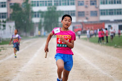 China: Student Track and Field Games stock photography