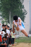 China: Student Track and Field Games / long jump stock images