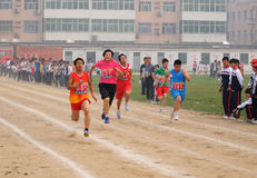 China: Student Track and Field Games / meter race stock photos