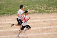 China: Student Track and Field Games / meter race royalty free stock photos