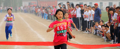 China: Student Track and Field Games/sprint stock image