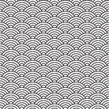 China style seamless pattern seashell Royalty Free Stock Photos
