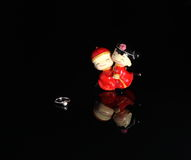 China style Wedding Doll and a wedding ring Stock Photo