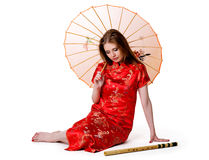 China-style woman Stock Photography