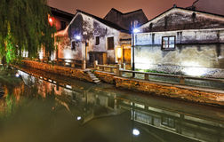 China Suchou Canal Houses Stock Photo