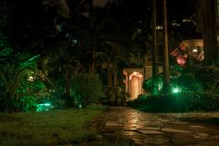 China summer on island wuchichan during night in fantastic colors Stock Photography