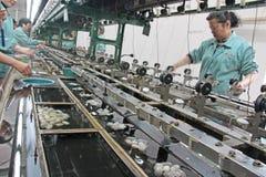 China, Suzhou - April 16, 2012. Silk factory in China royalty free stock photos