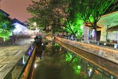 China Suzhou Canal Street Dusk Stock Images