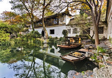 China Suzhou Garden Boats Stock Photo