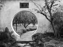 China Suzhou Garden Wall hole Stock Image