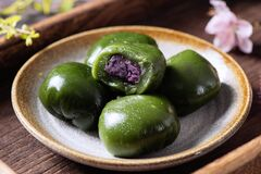 Free China Sweet Green Rice Ball,Qingming Festival Stock Photography - 214594242