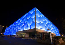China swimming center. China national swimming center,also called Water Cube, the swimming competitions in 2008 Olympic Royalty Free Stock Photography