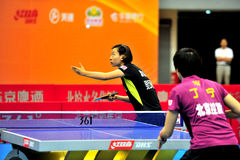 China Table Tennis Super League Royalty Free Stock Images