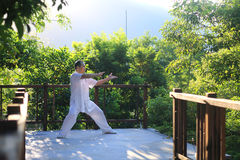 China tai chi health of martial arts. China tai chi martial arts fitness regimen Stock Photo
