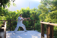 China tai chi health of martial arts. China tai chi martial arts fitness regimen Royalty Free Stock Images