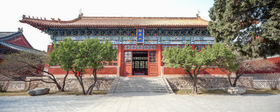 China taishan ancient buildings, daimiao Royalty Free Stock Photo