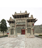 China taishan ancient buildings, daimiao Stock Photography