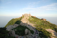 China taishan mountain scenery Stock Photo