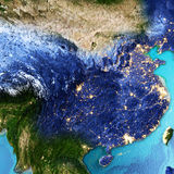 China, Taiwan. Elements of this image furnished by NASA. 3D rendering vector illustration