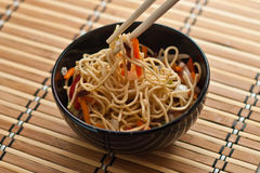 China tasty noodles with vegetables. Stock Photography