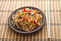 China tasty noodles with vegetables. Stock Images