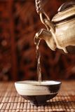China tea. Serving,Shallow Dof Stock Photos