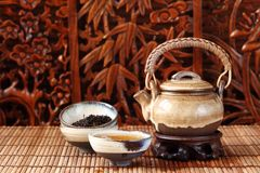 China tea. Classical china tea serving background Royalty Free Stock Photos