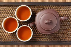 China tea. Set of China tea background Royalty Free Stock Images