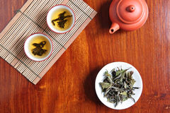 China tea. On wooden table Royalty Free Stock Photos