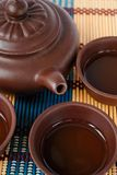 China tea ceremony. In ceramic set closeup Royalty Free Stock Image