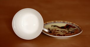 China tea cup, coffee cup with saucer Stock Image