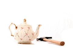 China Tea Pot and Hammer Stock Images
