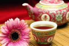 China tea set stock photo