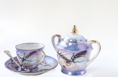 China Tea Set. On White Background Royalty Free Stock Photo