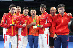 China team Olymic Champion at the Olympic Games in Rio 2016. Stock Photos