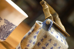 China teapot and cup Royalty Free Stock Image