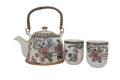 China teapot and cups Royalty Free Stock Image