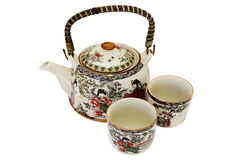 China teapot and cups Royalty Free Stock Photo