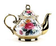 China teapot isolated on white background royalty free stock images