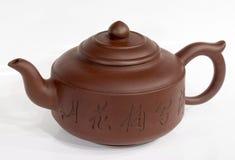 China-Teekanne am Weiß Lizenzfreie Stockfotografie