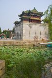 China temple. North China temple located on the summer palace grounds next to the lake Royalty Free Stock Images