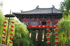 China temple. A temple in a theme park in China Royalty Free Stock Photography