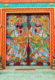 China temple door. Decorated on Chinese temple door Royalty Free Stock Photography