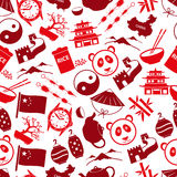 China theme color icons seamless pattern Royalty Free Stock Image