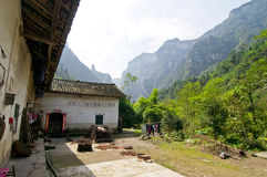 China Three Gorges Mingju. Live in a house in the Three Gorges Stock Images