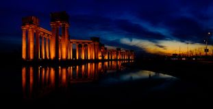 China Tianjin City Scenery -- Binhai Dagang landmarks -- University Park Rome column Stock Photos