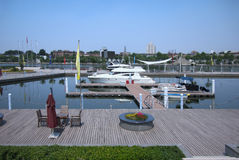 China Tianjin , Yachts Docks Stock Image
