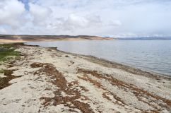 China, Tibet, holy lake Manasarovar.  royalty free stock photography